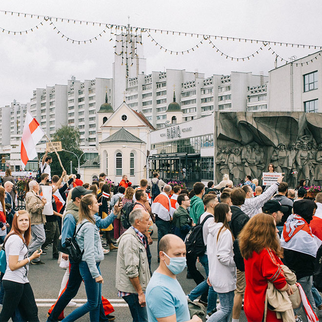 "An Architect: ""Minsk is a city for marching crowds"""